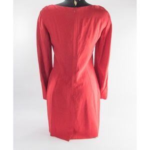FENDI Dresses - Fendi Vintage Red Fitted Scrollwork Mini Dress 6 8